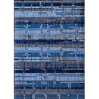 Rockefeller Blue Geometric Square Rug - Louis de poortere