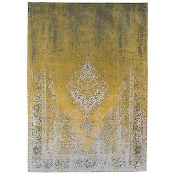 Distressed Yuzu Cream Medallion Flatweave Rug 200 x 280 - Louis de Poortere