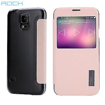 Oprindelige ROCK smart cover Pink for Samsung Galaxy S5