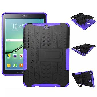 Hybrid outdoor protective cover case purple for Samsung Galaxy tab S2 9.7 T810 T815N bag
