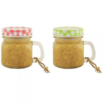 Fallen Fruits Peanut Butter Glass Mug Assorted