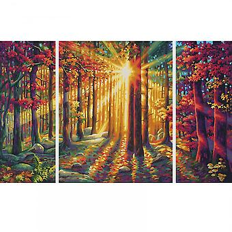 Schipper Triptych Paint By Numbers Autumn Forest