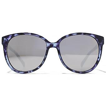 American Freshman Soft Cateye Square Sunglasses In Blue Purple Tortoiseshell