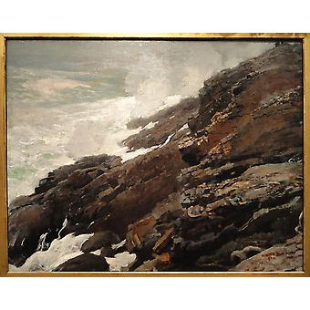 Winslow Homer - High Cliff Coast of Maine Poster Print Giclee