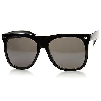 Large Bold Oversized Modified Horn Rimmed Sunglasses