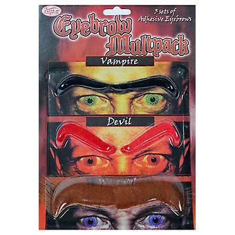 Skägg och mustascher Set med ögonbryn