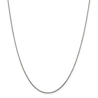 Argent sterling massif poli Lobster Claw fermeture 1,2 mm rond Snake Chain bracelet de cheville - 9 pouces - Lobster Claw