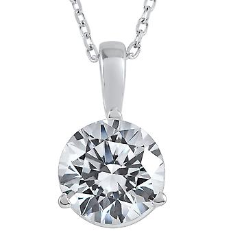 2 ct Solitaire Diamond Pendant available in 14K and Platinum