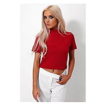 The Fashion Bible Binky Red Cropped Boxy Jumper
