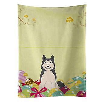Easter Eggs West Siberian Laika Spitz Kitchen Towel
