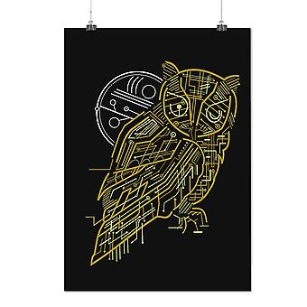 Matte or Glossy Poster with Nature Owl System Animal | Wellcoda | *d2350