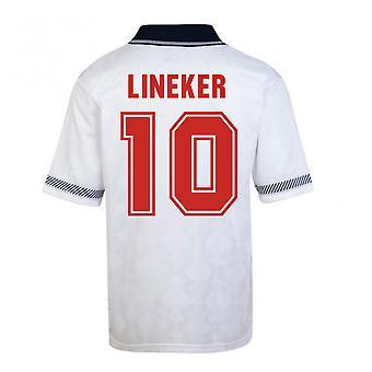 Score trekke England World Cup 1990 hjem skjorte (Lineker 10)