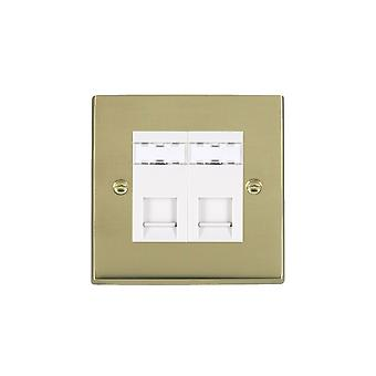 Hamilton Litestat Cheriton Victorian Polished Brass 2g RJ12 Outlet-Unshield WH