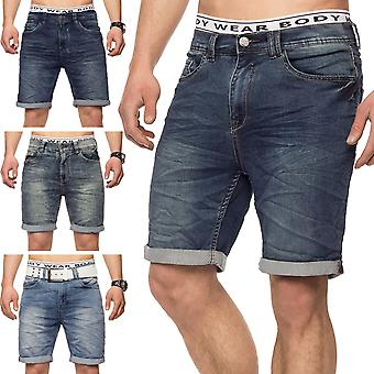 Men's Denim Jeans Shorts short stretch stretchy pants elastic slim fit JoggJeans