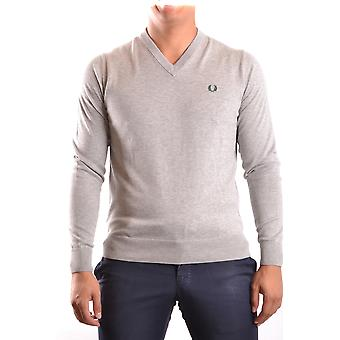 Fred Perry men's MCBI128084O grey cotton sweater