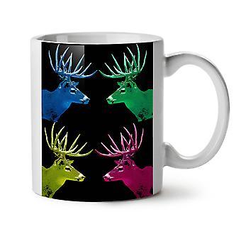 Deer Colorful Art NEW White Tea Coffee Ceramic Mug 11 oz | Wellcoda