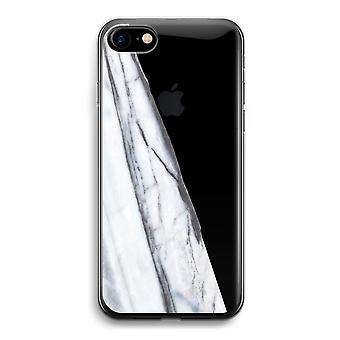 iPhone 7 transparentes Gehäuse (Soft) - gestreift Marmor