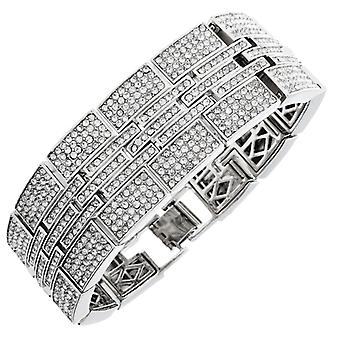 Iced out bling hip hop bracelet wristband - MILLIONAIRE