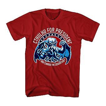 Warpo Cthulhu formand mænds rød t-shirt