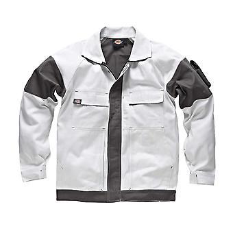 Dickies Mens Workwear GDT290 Jacket White Grey WD4910W