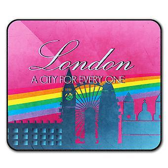 Pride Love Urban London  Non-Slip Mouse Mat Pad 24cm x 20cm | Wellcoda