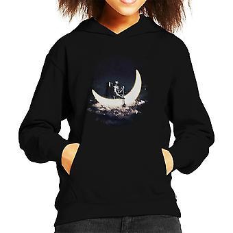 Moonsailing Astronaut Kid's Hooded Sweatshirt