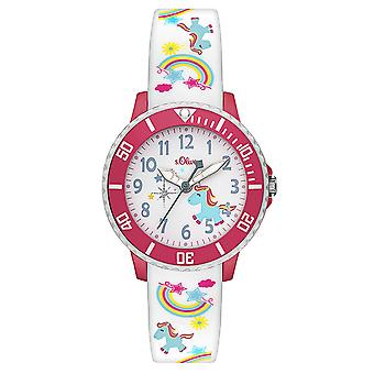 s.Oliver silicone band watch kids SO-3435-PQ