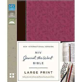 NIV Journal The Word Bible-Large Print, Pink & Brown