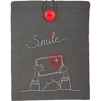 Smile iPad Cover Stamped Embroidery Kit-8.25