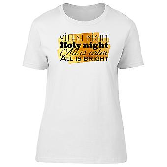 Silent Night Holy Night Tee Women's -Image by Shutterstock