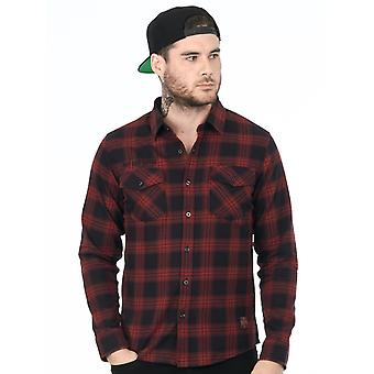 West Coast Choppers Red Dominator Flannel Long Sleeved Shirt