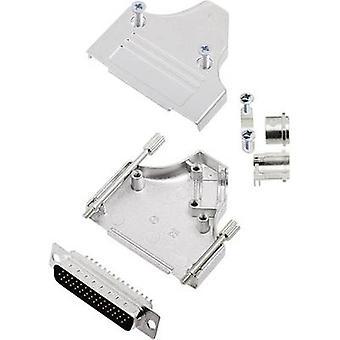 encitech MHDM35-25-HDP44-K D-SUB pin strip ställa 45 ° antal stift: 44 löda hink 1 Set