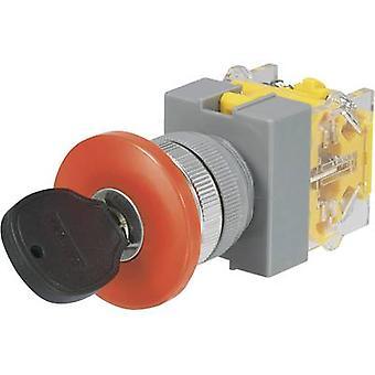 TRU COMPONENTS Y090-A-20YM/31 Key switch 250 V AC 5 A 2 x On/Off/On 2 x 45 ° 1 pc(s)