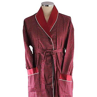 Bown of London Mayfair Lightweight Dressing Gown - Burgundy