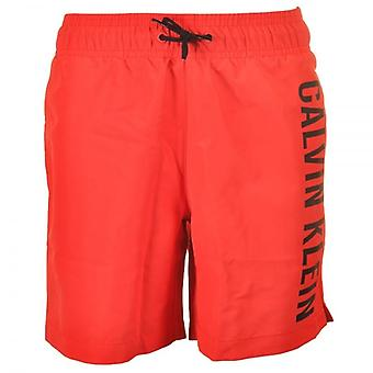 Calvin Klein Boys Intense Power Swim Shorts, Poppy Red, XX-Large