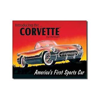 Chevrolet Corvette 1953 '' Americas erste cm Blechschild
