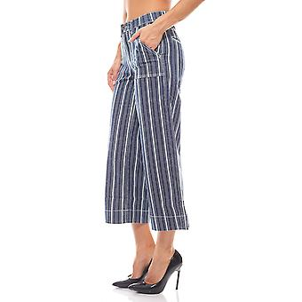 Striped Culotte Jeans in maritime style ladies blue ARIZONA