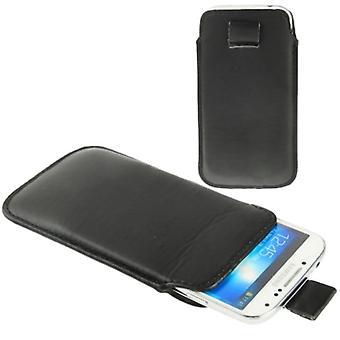 Mobile case bag slide for mobile Samsung Galaxy S4 i9500 / i9505 / i9506 / GT-i9515 / S3 / i9500 / i9300 / i9250 / i8750 black