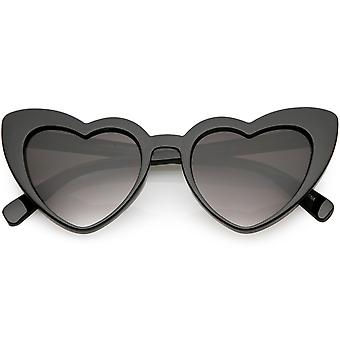 Women's Oversize Heart Sunglasses Gradient Lens 51mm