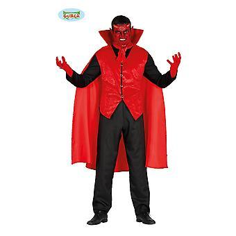 Elegant Devil costume for men's suit jacket Halloween horror party