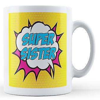 Super irmã! Pop arte caneca - caneca de impressos