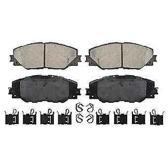 Wagner QuickStop ZD1211 Ceramic Disc Pad Set Includes Pad Installation Hardware, Front