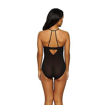 Gossard 15009 Women's VIP Sparkle Black Embroidered Padded Bodysuit One Piece Body