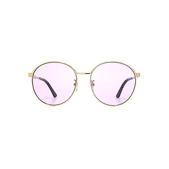Gucci Metal Round Sunglasses In Gold Violet 86444061041