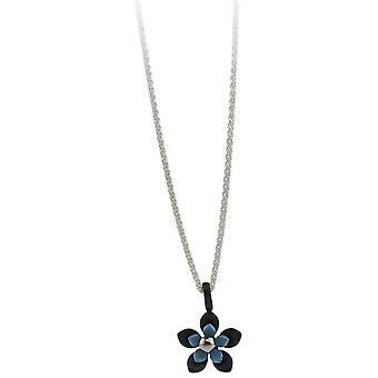 Ti2 Titan svart tillbaka fem kronblad blomma hänge - himmelsblå