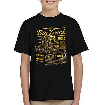 Leuke coole Vintage grote vrachtwagen Kid's T-Shirt