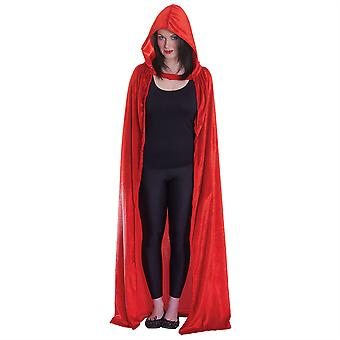 Bnov Red Hooded Cloak