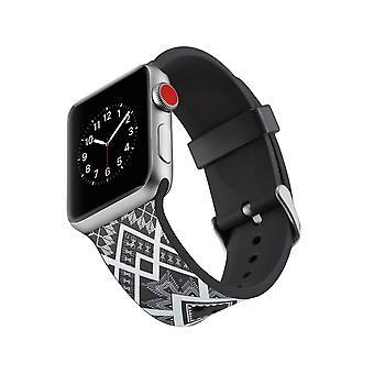 Silicone klockrem for Apple Watch 4 3/2/1 44 mm, 42 mm-Quadrangle