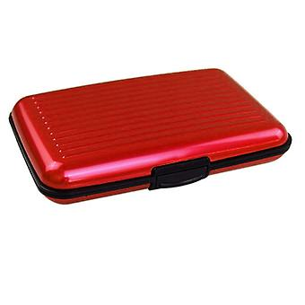 Card holder Aluminium Red