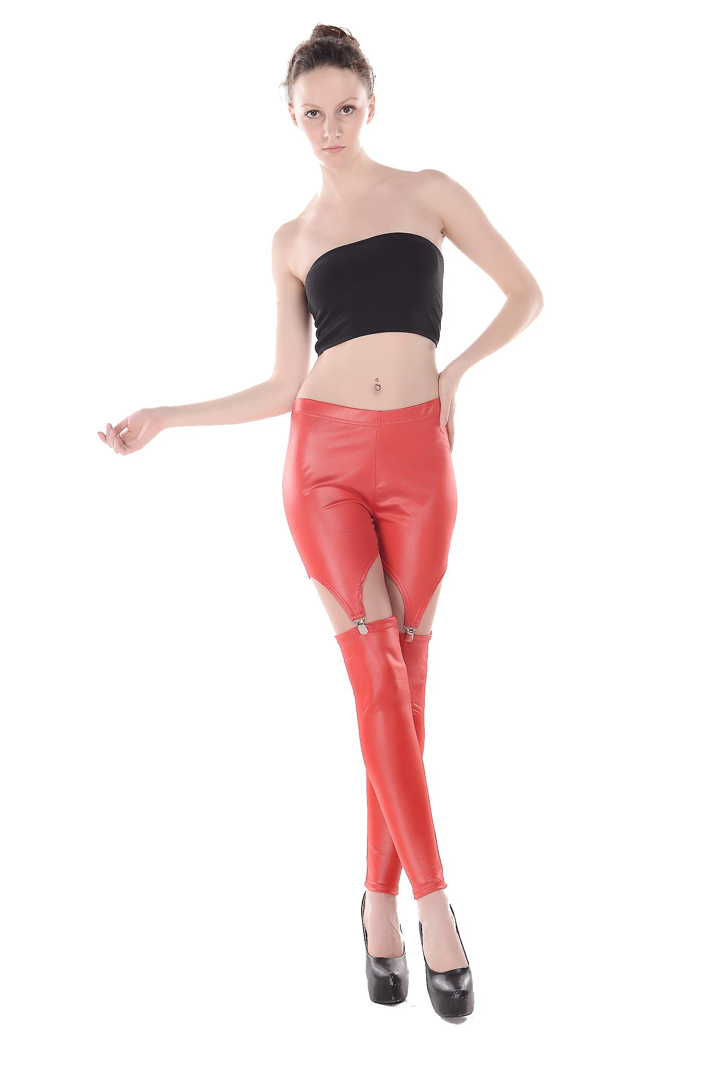 Waooh - Fashion - Long Leggings With Suspenders TAZARA